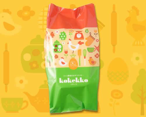 『コッコ農場のおやつクッキー コケッコ 6個袋入』パッケージ画像